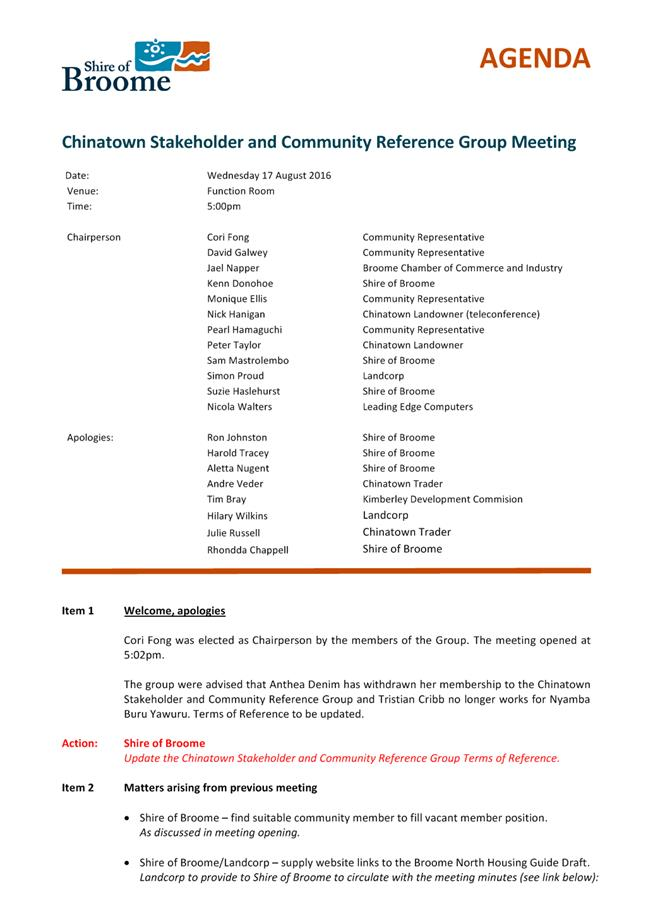 Minutes of Ordinary Meeting - 23 February 2017